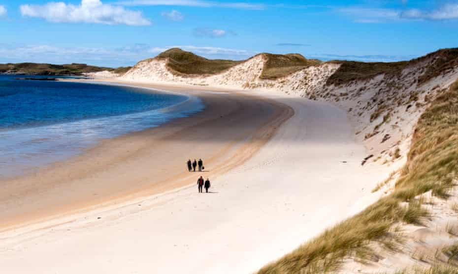 The beach near Ardara, County Donegal, on Ireland's Wild Atlantic Way.