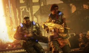 Embracing the absurdities rather than bulldozing through them … Gears 5.
