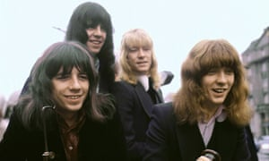 The Sweet pictured in 1971 ... (L-R) Andy Scott, Mick Tucker, Brian Connolly and Steve Priest.