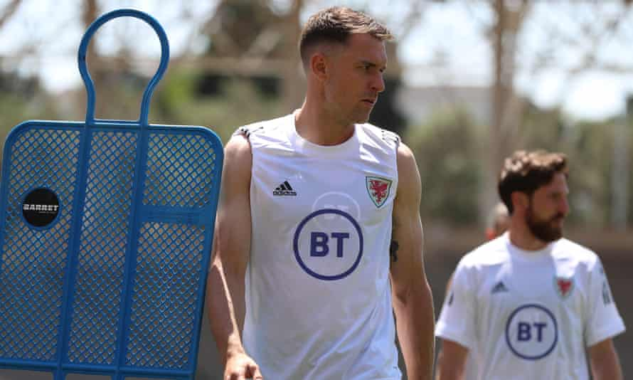 Aaron Ramsey training in Baku with Wales in preparation for their Euro 2020 opener against Switzerland.