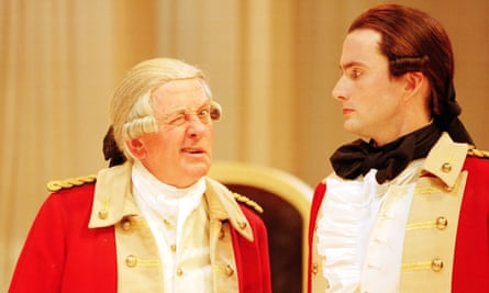 Benjamin Whitrow, left, as Sir Anthony Absolute and David Tennant as Jack Absolute in Sheridan's The Rivals at Stratford-upon-Avon in 2000.