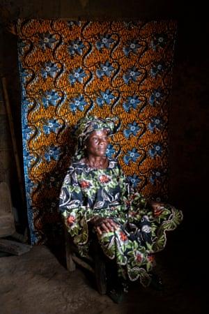 Grandmother Esther Glah, 69, in Grand Bassa county, Liberia
