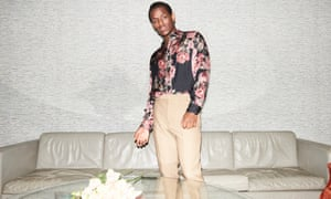 'We come from Jamaica, literally from the mud': Ward wears floral shirt by representclo.com; trousers by numeroventuno.com; gold chain by sergedenimes.com; and earring Micheal's own.