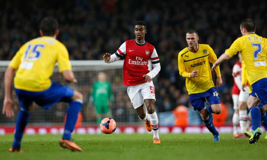 Gedion Zelalem makes his debut for Arsenal during the FA Cup game against Coventry last year.