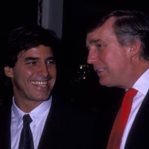 John Casablancas and Trump at the Elite Model Agency Look of the Year awards in 1991.
