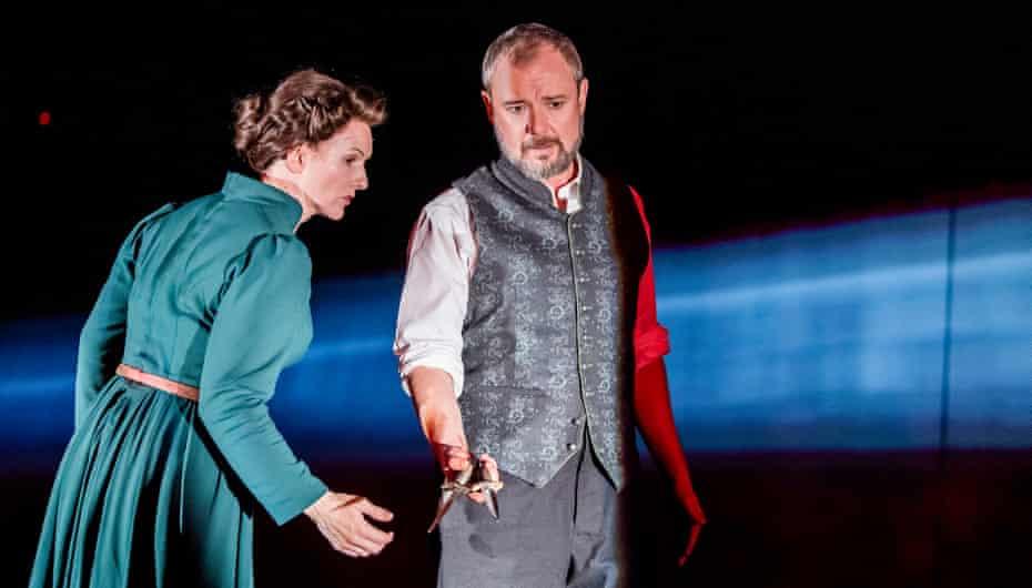 Dervla Kirwan as Lady Macbeth and John Simm at Chichester Festival theatre.