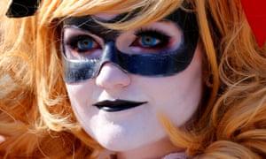 Em Blackburn of Atlanta arrives as Harley Quinn