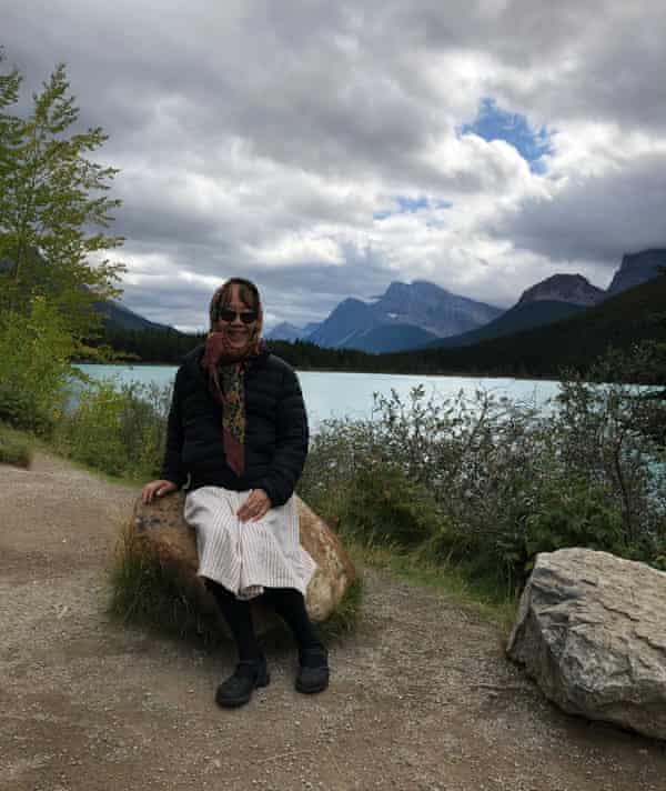 Peggy Strait in the Canadian Rockies on October 2019.