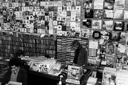 Bleecker Bob's Records, New York, in the late 70s.