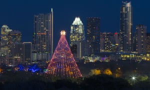 Christmas lights in Austin, Texas.
