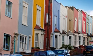 Terraced properties in Bristol