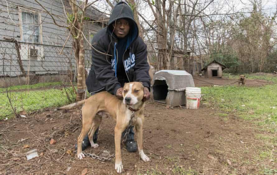 Michael and his dog.
