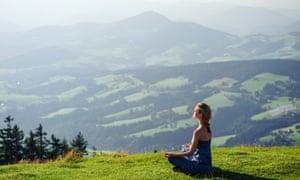 Outdoor meditation, Chamonix-Argentiere