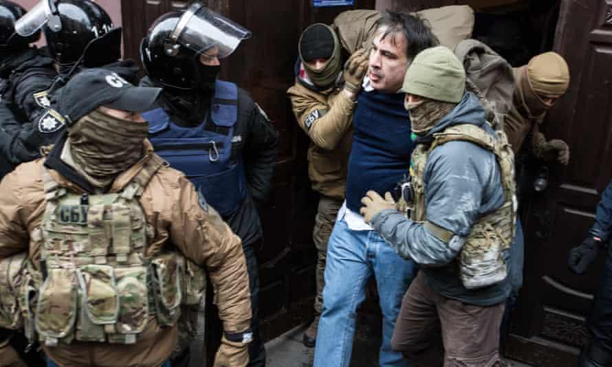 Saakashvili is detained in Kiev.