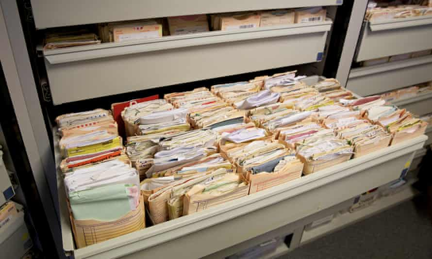 Medical records in a surgery