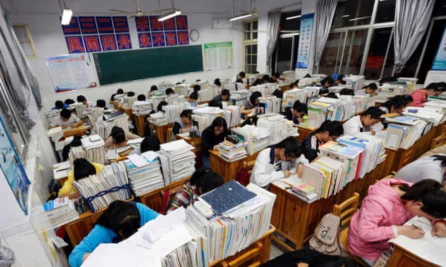 Students in east China's Jiangsu province.