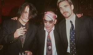 Depp with Hunter S Thompson, center, and the actor Matt Dillon in 1996