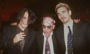 Johnny Depp and Matt Dillon flank Hunter S Thompson