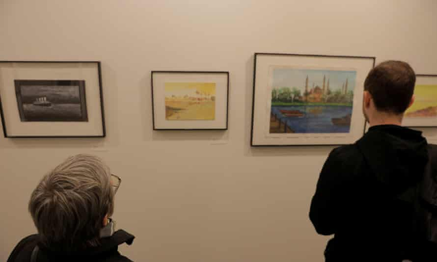 The Ode to the Sea: Art from Guantanamo Bay art exhibition in New York.