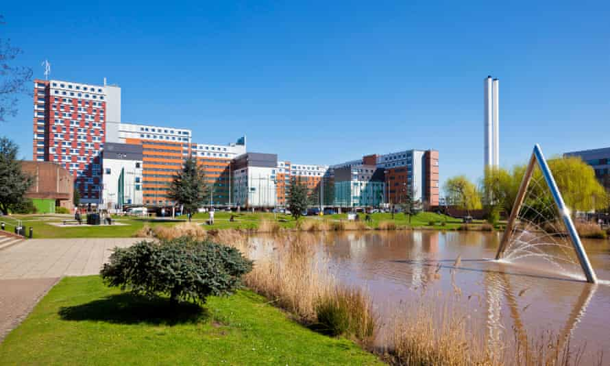 Aston University campus in Birmingham.