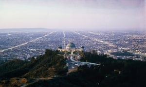 The Griffith Observatory with Los Angeles sprawling beyond, in 1964.