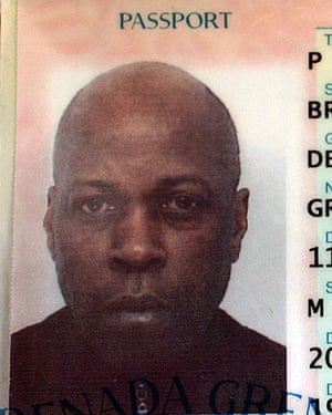 Dexter Bristol's passport. He moved from Grenada, where he was a British subject, to the UK in 1968.