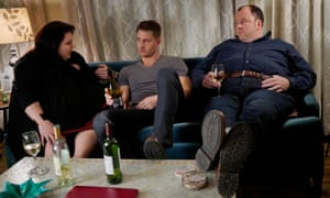 Chrissy Metz, Justin Hartley and Chris Sullivan in This Is Us.
