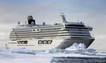 The Crystal Serenity in ice