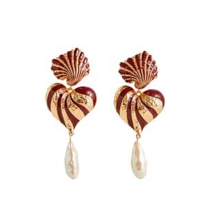 Heart earrings, £49, uterque.com