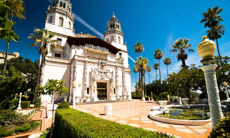 Hearst Castle, fantasy home of 'the great accumulator' and publishing magnate, where many valuable artefacts are displayed.