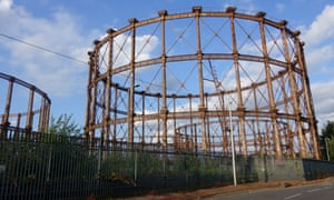 The gasholders in Bromley-by-Bow, east London