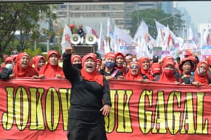 Jakarta, Indonesia The May Day rally gathers pace