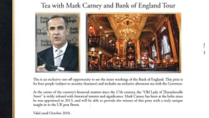 The Mark Carney offer in the Presidents Club brochure.