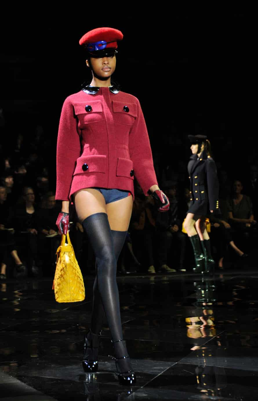 A peaked cap on the Louis Vuitton catwalk in 2011.