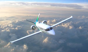 Artist's rendering of Zunum 2022 hybrid-electric plane.