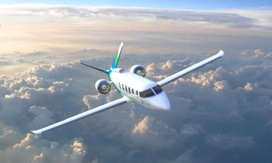 Artist's rendering of Zunum 2022 hybrid-electric plane.