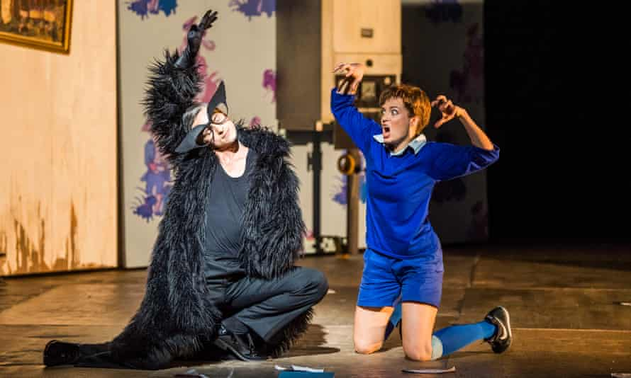 Quirijn de Lang as Tom Cat and Wallis Giunta as the Child in Opera North's staging of L'Enfant et Les Sortilèges by Ravel.