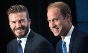 David Beckham with Prince William