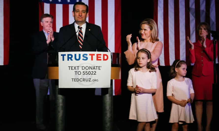 Ted Cruz and family.