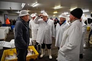 Boris Johnson visits Grimsby fish market