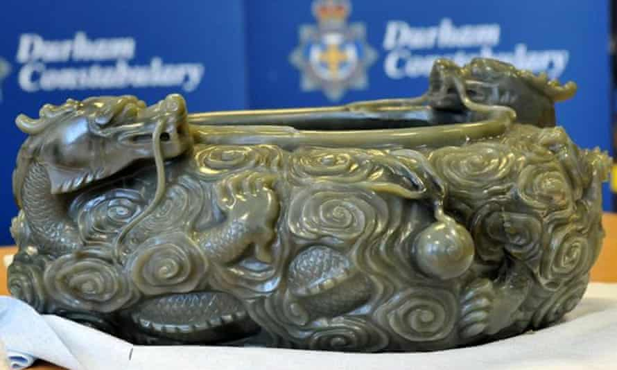 A Chinese jade bowl, stolen from Durham University's Oriental Museum.
