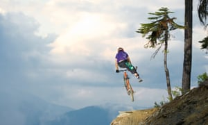 Downhill Mountain Biking in the world famous Whistler Bike Park in Whistler, BC, Canada