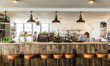 Bar at Gara Rock East Portlemouth Near Salcombe Devon