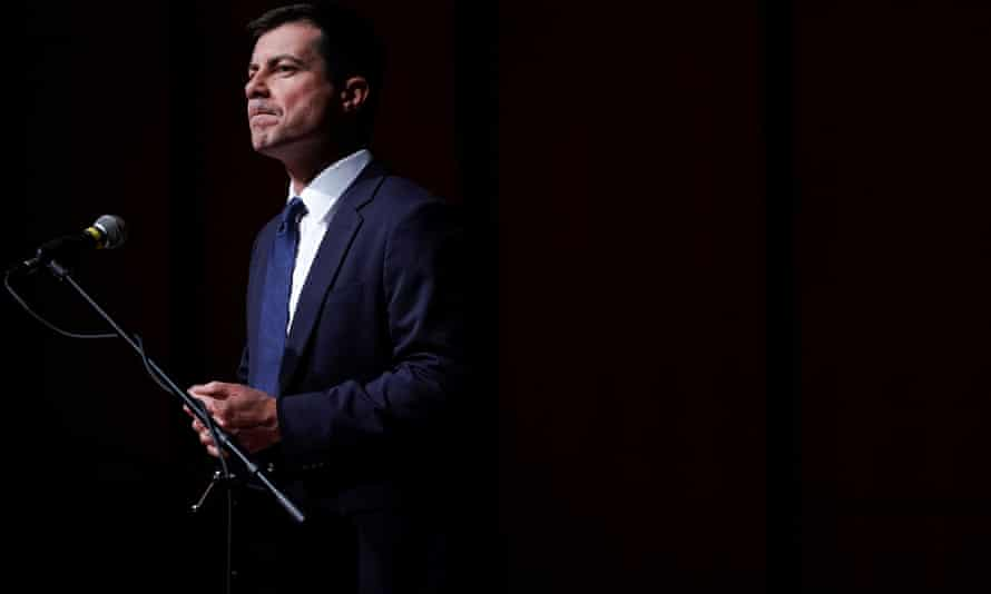 Pete Buttigieg at Morehouse College in Atlanta on 18 November. A new poll shows he is attracting 0% support among African Americans in South Carolina.