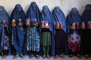 Afghan women in their new training centre in Fayzabad, Badakhshan