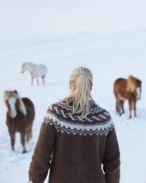 Heiða Guðný Ásgeirsdóttir photographed on her farm in Iceland