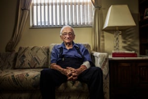 Ben Ferencz at home in Delray Beach, Florida. He was the prosecuting lawyer, at age 27, or the Nurenberg Trials after the war. Ben Ferencz is not a Holocaust survivor. He is, however, directly responsible for hundreds of thousands of survivors.