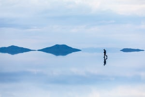 The salt flats are the legacy of a prehistoric lake that went dry, leaving behind the salt crust
