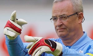 Martin Winterkorn at a charity soccer match