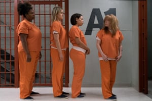 Adrienne C. Moore, Taylor Schilling, Selenis Leyva and Natasha Lyonne in Orange Is the New Black.